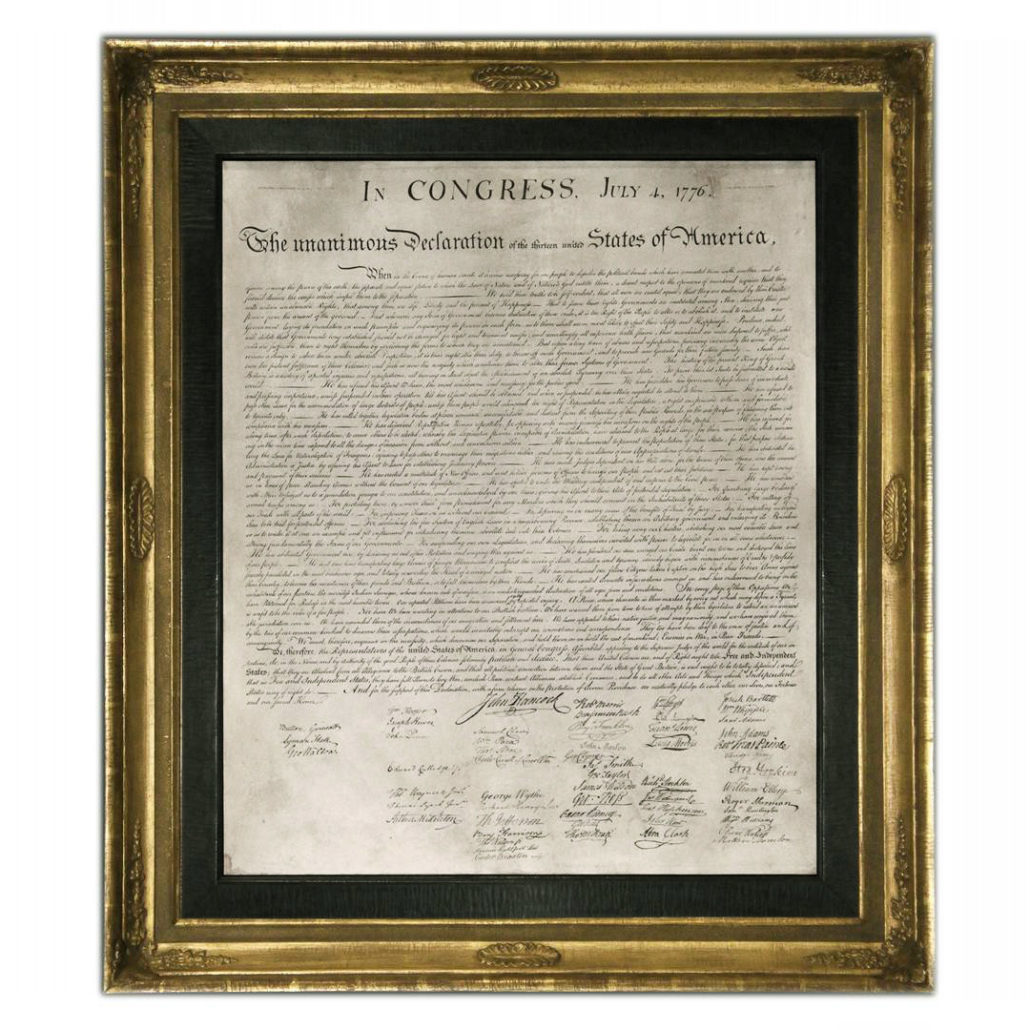 Replica of the Declaration of Independence | FAPE: Foundation for
